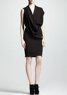 Lanvin Draped Crepe Dress