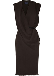 Lanvin Draped woven crepe dress