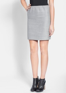 Lanvin Elastic Waist Cotton & Wool Skirt