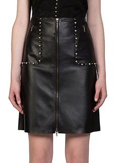 Lanvin Embellished Leather Pencil Skirt
