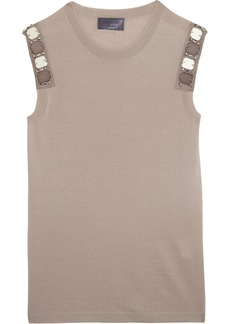 Lanvin Embellished wool top