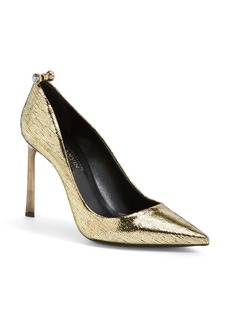 Lanvin Embossed Metallic Leather Pump (Women)