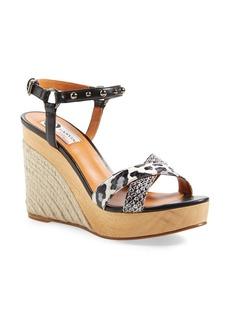 Lanvin Espadrille Wedge Snakeskin Sandal (Women)