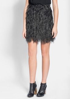 Lanvin Faux Feather Miniskirt