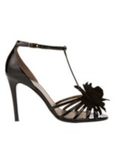 Lanvin Flower-Embellished T-strap Sandals