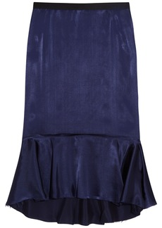 Lanvin Fluted satin skirt