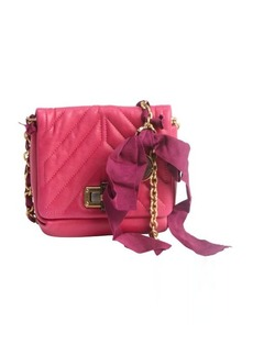 Lanvin fuschia quilted leather 'Happy Mini Pop' shoulder bag