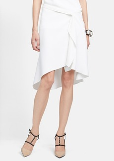 Lanvin Gathered Satin Skirt