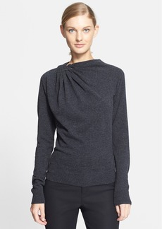 Lanvin Gathered Shoulder Wool Sweater