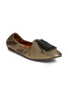 Lanvin Glitter Tassel Smoking Slipper (Women)