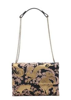 Lanvin gold and black brocade 'Sugar' medium shoulder bag