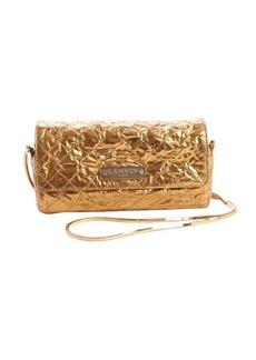 Lanvin gold leather goltone chain strap shoulder bag