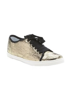 Lanvin gold leather 'Sela' lace-up sneakers