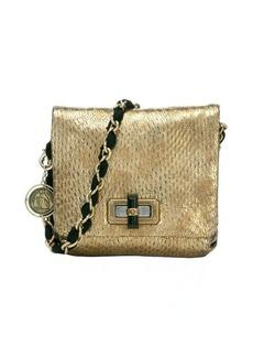 Lanvin gold snake embossed sheepskin 'Happy Mini Pop' chain shoulder bag
