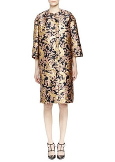 Lanvin Golden Monkey Brocade Coat