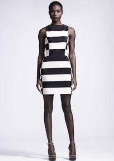 Lanvin Graphic Striped Sheath Dress