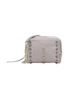 Lanvin grey leather 'Baby Sugar' mini studded shoulder bag