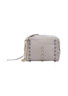 Lanvin grey leather 'Baby Sugar' mini studded shoulder bag