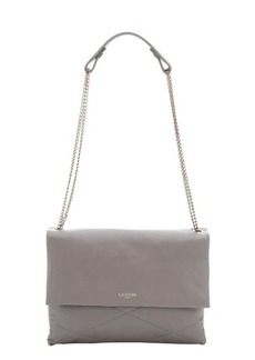 Lanvin grey quilted leather chainlink medium shoulder bag