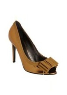 Lanvin Grosgrain Bow Peep Toe Pump