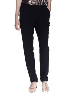 Lanvin Grosgrain-Trim Pajama-Inspired Silk Pants
