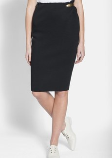 Lanvin Hardware Detail Pencil Skirt