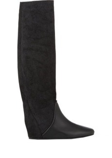 Lanvin Hidden-Wedge Knee Boots