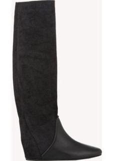 Lanvin Hidden-Wedge Knee Boots