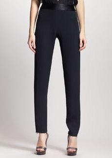 Lanvin High-Waist Slim Tuxedo Pants