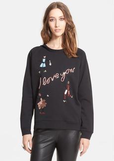Lanvin 'I Love You' Crewneck Sweatshirt