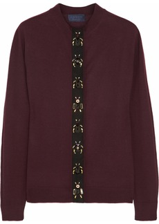 Lanvin Insect-embellished wool cardigan