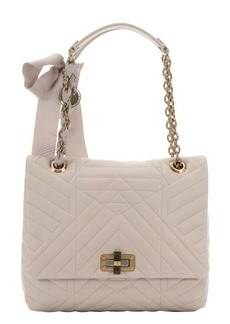 Lanvin ivory quilted leather 'Happy' medium shoulder bag