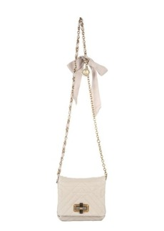 Lanvin ivory quilted leather 'Happy Mini Pop' crossbody bag