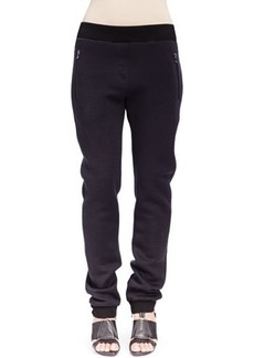 Lanvin Jersey Zip-Pocket Jogging Pants
