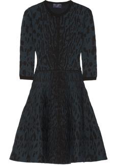 Lanvin Knitted wool-blend jacquard dress