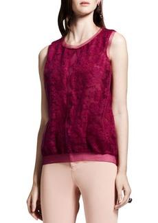 Lanvin Lace-Front Knit Top