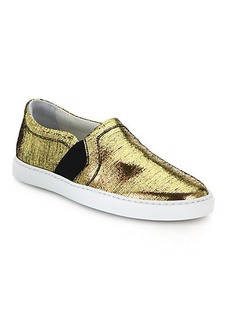 Lanvin Laminated Slip-On Sneakers