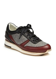 Lanvin Leather & Felt Sneakers