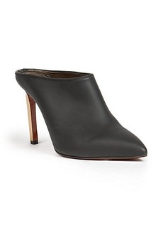 Lanvin Leather Point-Toe Mules