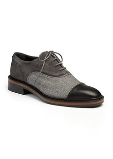 Lanvin Leather, Suede & Felt Oxfords
