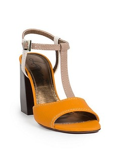 Lanvin Leather T-Strap Sandals