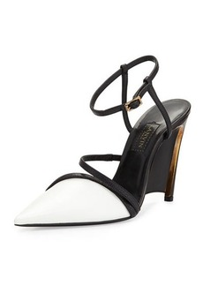 Lanvin Leather Wedge Pump