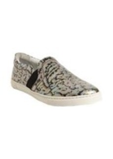Lanvin Leopard Brocade Slip-On Sneakers