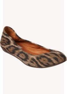 Lanvin Leopard Jacquard Ballet Flats