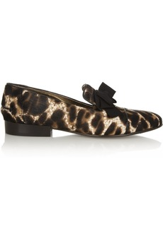 Lanvin Leopard-print calf hair loafers