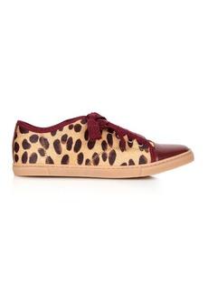 Lanvin Leopard-print calf-hair trainers
