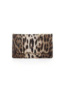 Lanvin Leopard-Print Envelope Clutch Bag