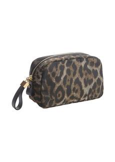 Lanvin leopard print nylon cosmetic pouch