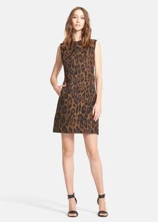 Lanvin Leopard Print Taffeta Shift Dress