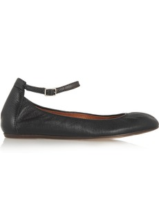 Lanvin Lizard-effect leather ballet flats